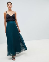 Coast Imi Pleated Maxi Skirt Green