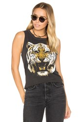 Chaser Tiger Head Muscle Tee Charcoal