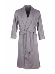 Johnstons Of Elgin Cashmere Mens Dressing Gown Grey