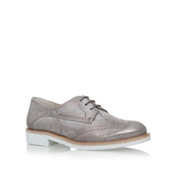 Paul Green Stephanie Flat Lace Up Formal Shoe Light Grey