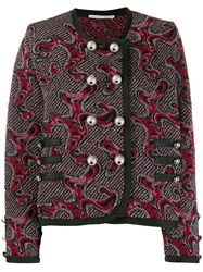 Marco De Vincenzo Embroidered Fitted Cardigan Pink