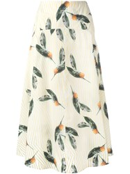 Cacharel Pineapple Print Skirt Yellow Orange