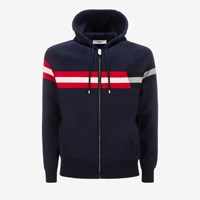 Bally Men's Cotton Lounge Hoodie In Ink Blue