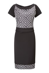 James Lakeland Printed Short Sleeve Dress Black