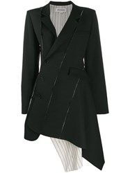 Monse Asymmetric Hem Coat Black