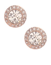 Givenchy Rose Goldtone And Swarovski Crystal Stud Earrings Pink