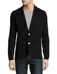 Hardy Amies Cotton Blend Button Front Cardigan Coal