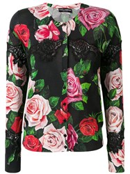 Dolce And Gabbana Lace Floral Cardigan Black