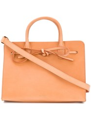 Mansur Gavriel Bow Detail Tote Brown