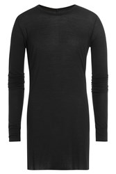 Rick Owens Men Long Sleeved Top With Silk Black