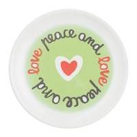 Bitossi Home Sms Dessert Plate Peace And Love