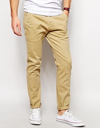Solid Solid Skinny Fit Chinos Stone