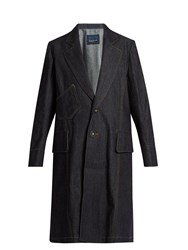Yohji Yamamoto Regulation Single Breasted Denim Coat Indigo