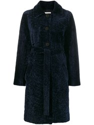 Zadig And Voltaire Dropped Shoulder Coat Blue
