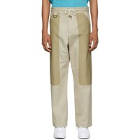 Nicholas Daley Tan Panelled Pullcord Trousers