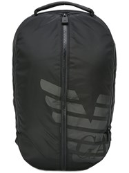 Emporio Armani Logo Print Backpack Black