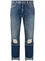 Dolce And Gabbana Asymmetric Jeans Blue