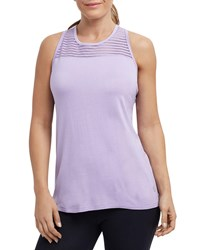 The Balance Collection Mei Sheer Striped Tank Purple