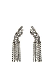Lanvin Bow Crystal Embellished Earrings