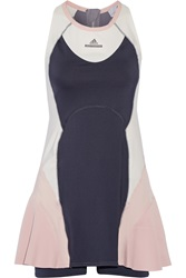 Adidas By Stella Mccartney Barricade Paneled Climacool Stretch Jersey Dress
