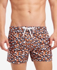 2Xist 2 X Ist Flamingo Print Ibiza 4 Swim Trunks Flamingo Navy Orange