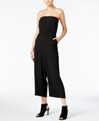 Bar Iii Strapless Wide Leg Jumpsuit Only At Macy's Deep Black