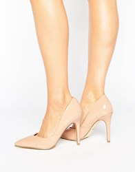 Lipsy Sweetheart Pointed Court Shoe Nude Pink