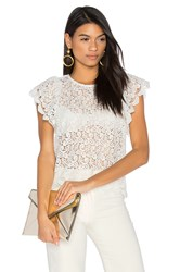 Endless Rose Ruffled Sleeve Top White