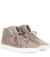 Rag And Bone Kent High Top Leather Sneakers Grey