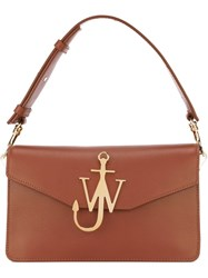 J.W.Anderson J.W. Anderson Logo Plaque Shoulder Bag Brown