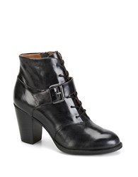 Sofft Wendy Leather Booties Black