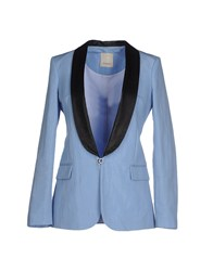 Pinko Suits And Jackets Blazers Women Sky Blue