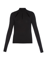 Thierry Mugler Cut Out Wool Sweater