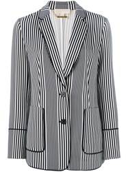 Michael Michael Kors Striped Blazer Blue