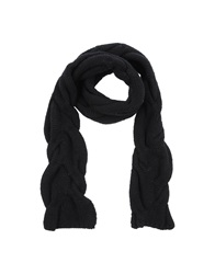 Kangra Cashmere Oblong Scarves Dark Blue
