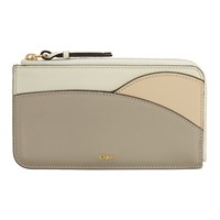 Chloe Grey And Taupe Walden Zippered Card Holder