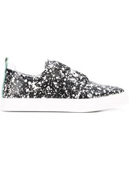 Pierre Hardy Paint Splatter Print Sneakers Women Calf Leather Leather Spandex Elastane Rubber 38 Black