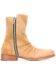 Amiri Zipped Ankle Boots Nude And Neutrals