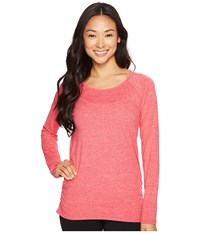 Lucy Cosmic Long Sleeve Top Island Rose Micro Stripe Women's Long Sleeve Pullover Pink
