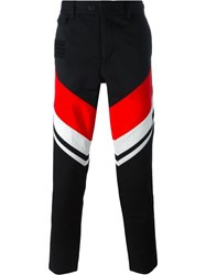 Ktz Striped Trousers Black