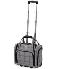 London Fog Knightsbridge 15 Under Seat Tote Available In Brown And Navy Glen Plaid Macy's Exclusive Colors Grey Glen Plaid