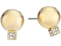 Vince Camuto Pave Ball Stud W Cry Earrings Gold Crystal Earring