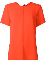 Proenza Schouler Tied Back Blouse Women Acetate Viscose 6 Red