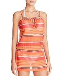 Polo Ralph Lauren Playa Stripe Dress Swim Cover Up Coral