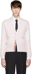 Thom Browne Pink Classic Short V Neck Cardigan