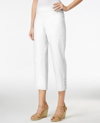 Jm Collection Pull On Cropped Pants Only At Macy's Bright White