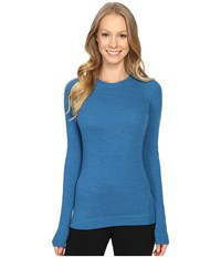 Smartwool Nts Mid 250 Crew Top Glacial Blue Heather Women's Long Sleeve Pullover
