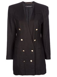 Louis Feraud Vintage Double Breasted Jacket Black