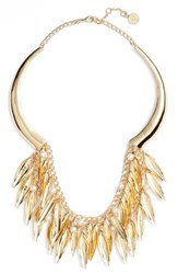 Vince Camuto Imitation Pearl Statement Necklace Gold