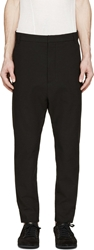Alexandre Plokhov Black Seersucker Trousers